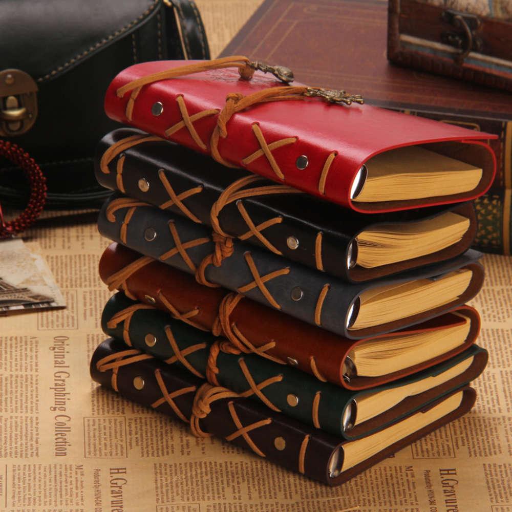 Notebook Pirate Imitazione in pelle foglia sciolta Busins Notebook Diario di cancelleria studente