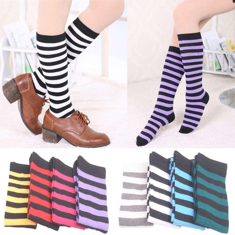 Chaussettes 1 paire de bandes tendance à pied de longueur longue mode respirant respirante collégiale vent mi-été métisse tube femme genou sos