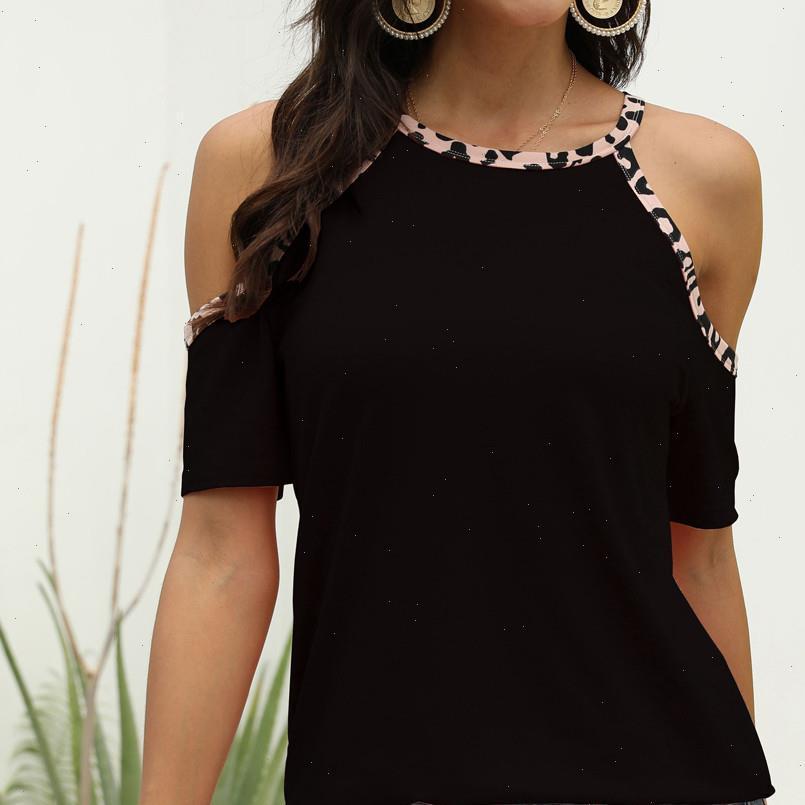 Frauen shirts frauen bluse leopard drucken kurze hülse runde hals lässig sommer streetwear blusen und tops elegant