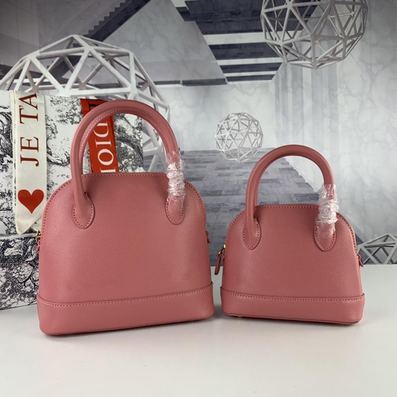 Diseñadores Bolsos Ville Pequeño Mango Top Mujer Bolsa de Hombro Negro Pink Grano Calfskin Moda Totes De Moda De Alta Calidad Dama Bolsos Vestido Mini Billetera