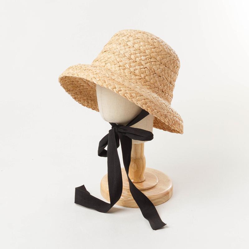Raffia에서 아이 모자 만든 아이 모자 휴일 모자 모자에 대 한 짚 태양