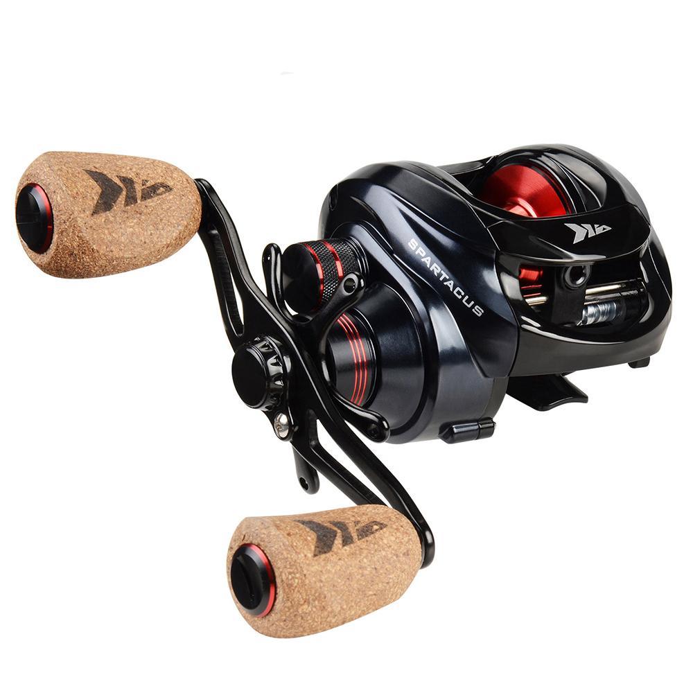 Spartacus Baitcasting Dual Brake System Reel 8KG Max Drag 11+1 BBs 6.3:1 High Speed Lure Fishing Reels
