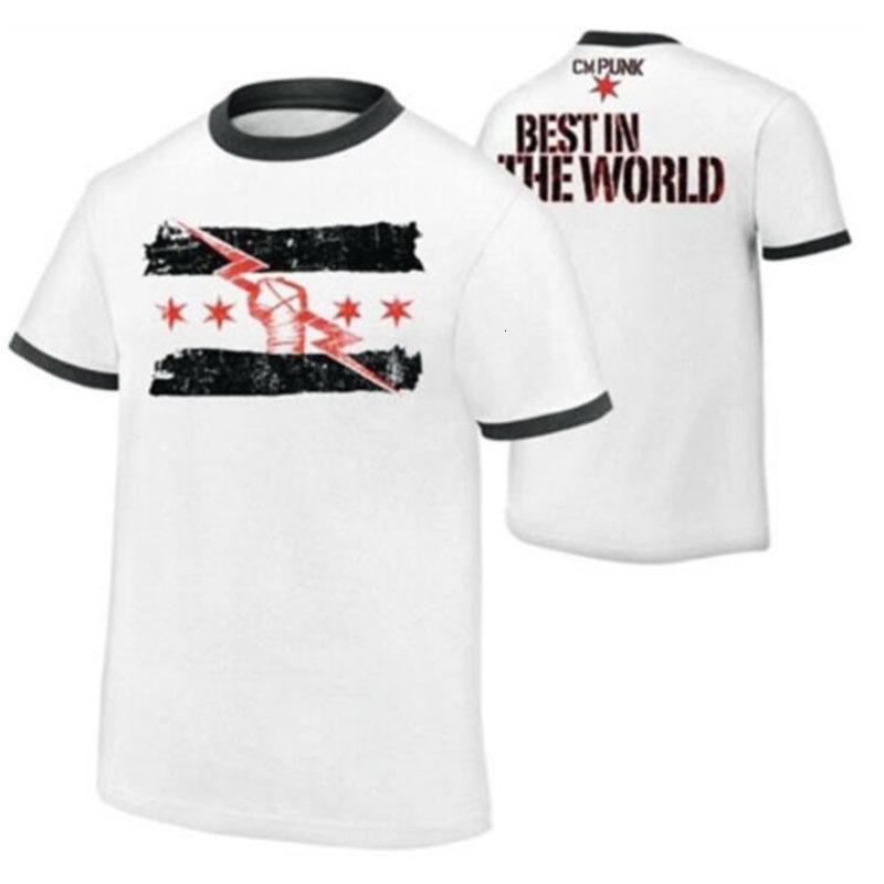 K8 T Shirts Summer Bouche courte Lutte CM Punk meilleur depuis jour l'un des hommes imprimés hommes européens