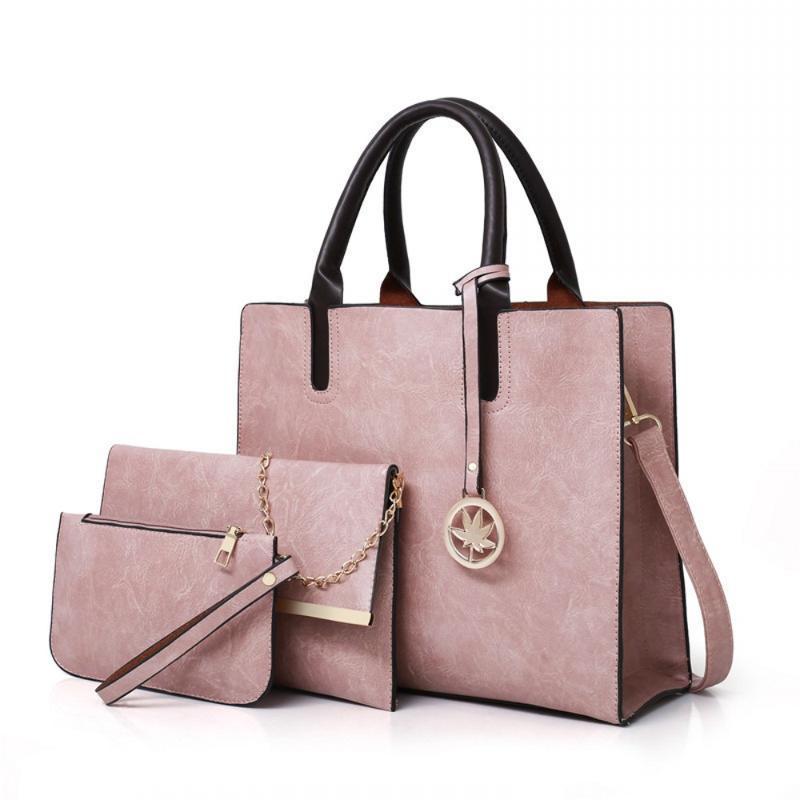 3pcs 여성 핸드백 어깨 크로스 바디 메시지 복합 가방 숙녀 패션 클러치 백 디자인 지갑 파우치 크로스 바디