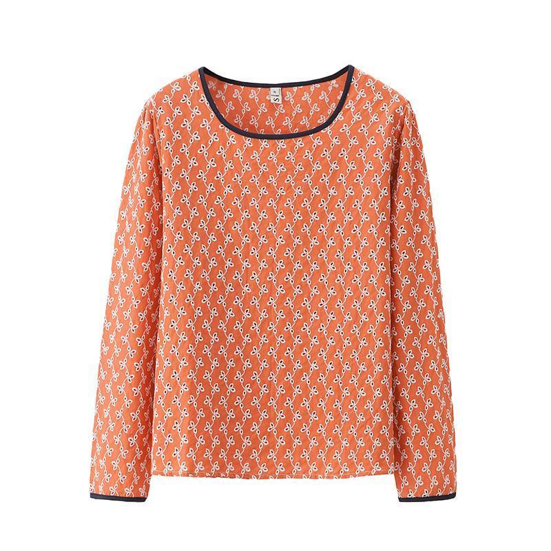 Kadın T-shirt Kadın Sonbahar Bayanlar Katı Tops Kadın Uzun Kollu Tshirt Gevşek Oymak Nakış Boy Giyim A3 709