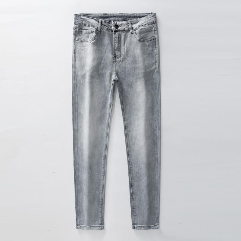 Мужские дизайнерские джинсы классические старинные брюки бизнес случайные модные галстуки краситель Cowboy известный бренд молния хиппер хмель окрашены джинсовые мысль 2
