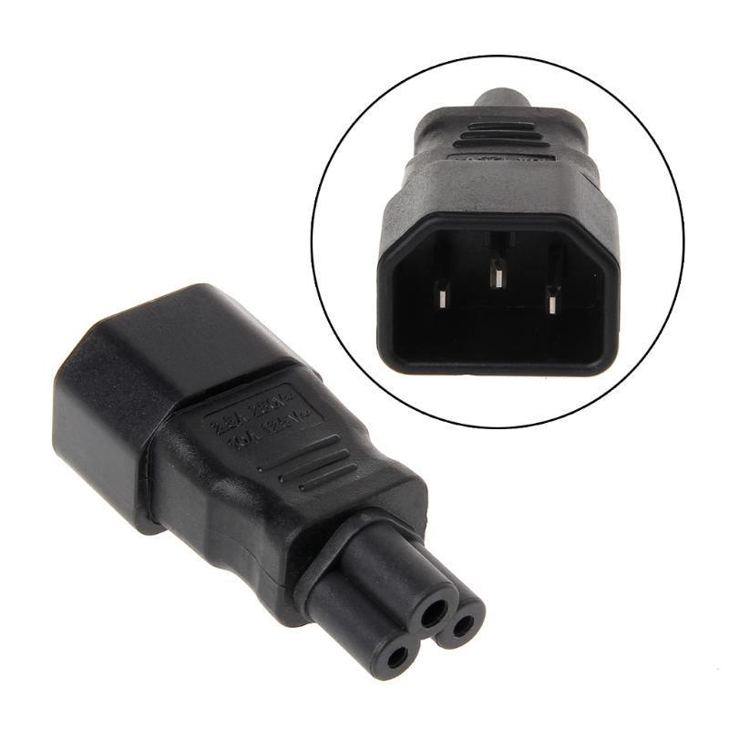 Smart Power Plugs IEC 320 C14 maschio a 3 pin Adattatore di convertitore di spine dritto da 3 pin a C5