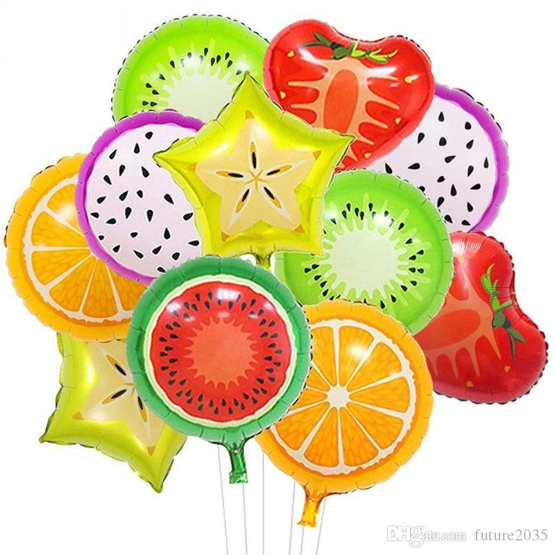 Fruit Shape Foil Balloon Party Decoration Pineapple Watermelon Ice Cream Doughnut Balloons Birthday Partys Baby Shower Decorations