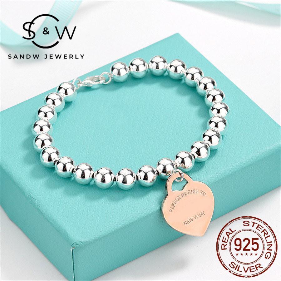 ساندو الفضة القلب بطاقة القلب سوار مجوهرات الحب صديقة الهدايا النساء الاتجاه الأزياء الكلاسيكية نمط اليدوية الأصلي جودة عالية