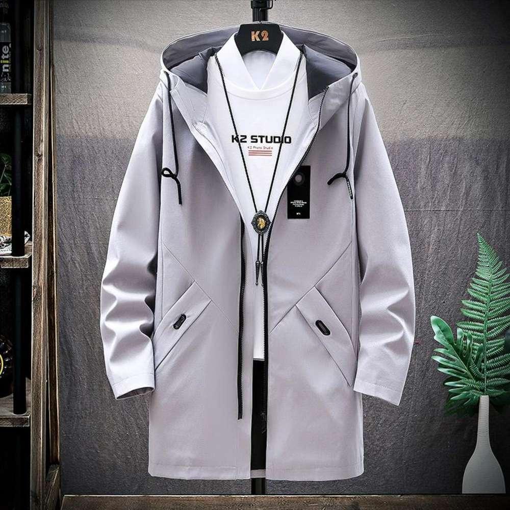 2020 Mode Design Outwear Lange Mantel Männer Graben Casaco Masculino Männliche Kleidung Slim Fit Lange Trenchcoat