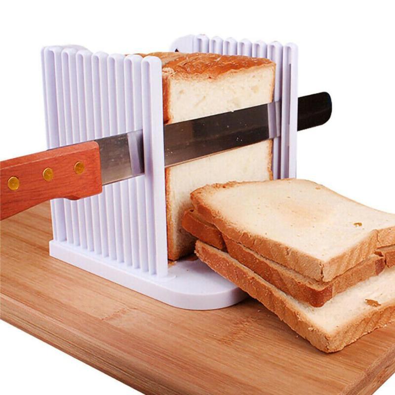Cortador de brinde de pão ferramenta de ferramenta de corte de corte com guide sandwich fabricante de fatiar máquina de cozimento ferramentas de pastelaria