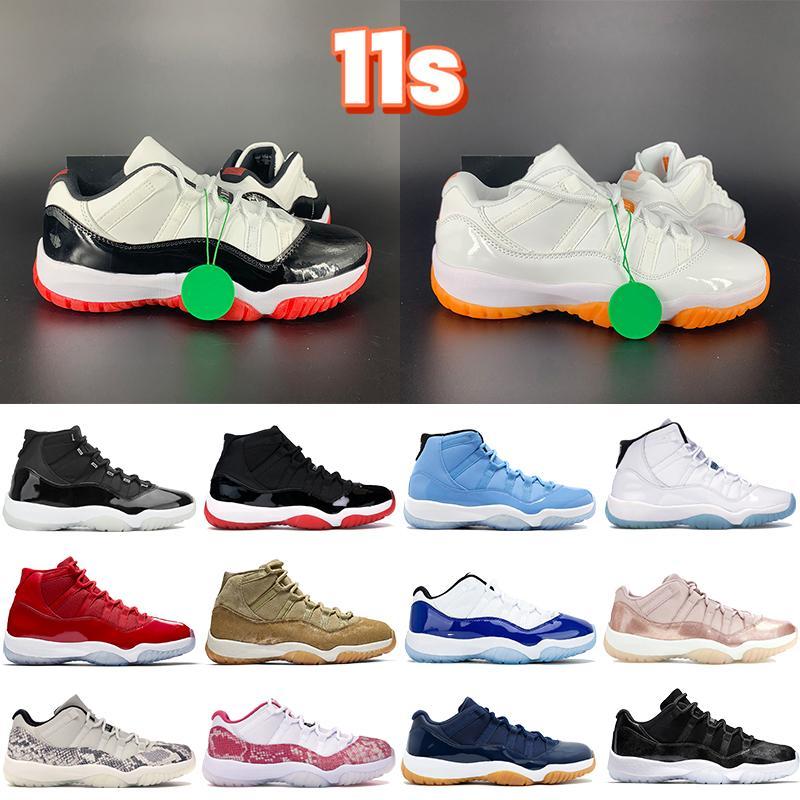 2021 11 11s Erkek Basketbol Ayakkabıları 25. Yıldönümü Düşük Efsane Beyaz Sreted Concord Pantone Kap ve Kıyafeti Heiress Siyah Kadın Sneakers Erkekler Eğitmenler
