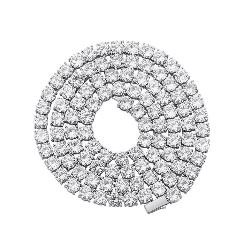 Catena da tennis Catena ghiacciata Catene 6mm hip hop gioielli uomo pendente collana micro cubico zirconia set di rame collana diamante pane quadrato diamon
