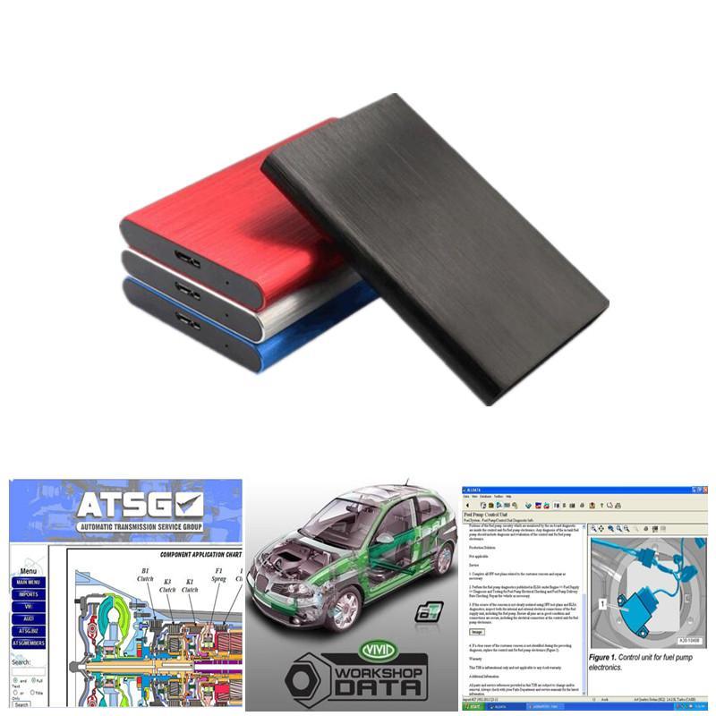 AllData 자동 수리 소프트웨어 모든 데이터 V10.53 + ATSG + 자동차 및 트럭에 대한 기술 지원이있는 V10.53 + ATSG + VIVID Workshop USB 3.0 750GB HDD
