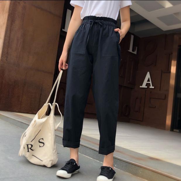 Women's Khaki Cargo Pants Harem Military Loose Baggy for Women Cotton Hip Hop Women'S Sweatpants And Joggers 210514