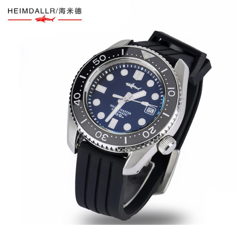 Erkekler Dalış İzle Safir Vintage Sportif Saatler ST2130 Otomatik Hareketi Mekanik Kol 300m Su Dayanıklı Saatı