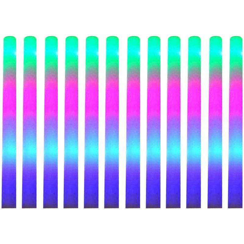 12 stücke beleuchtet schaumstöcke, led sticks glühst batons mit 3 modi blinkende effekt für partei, konzert und event party dekoration