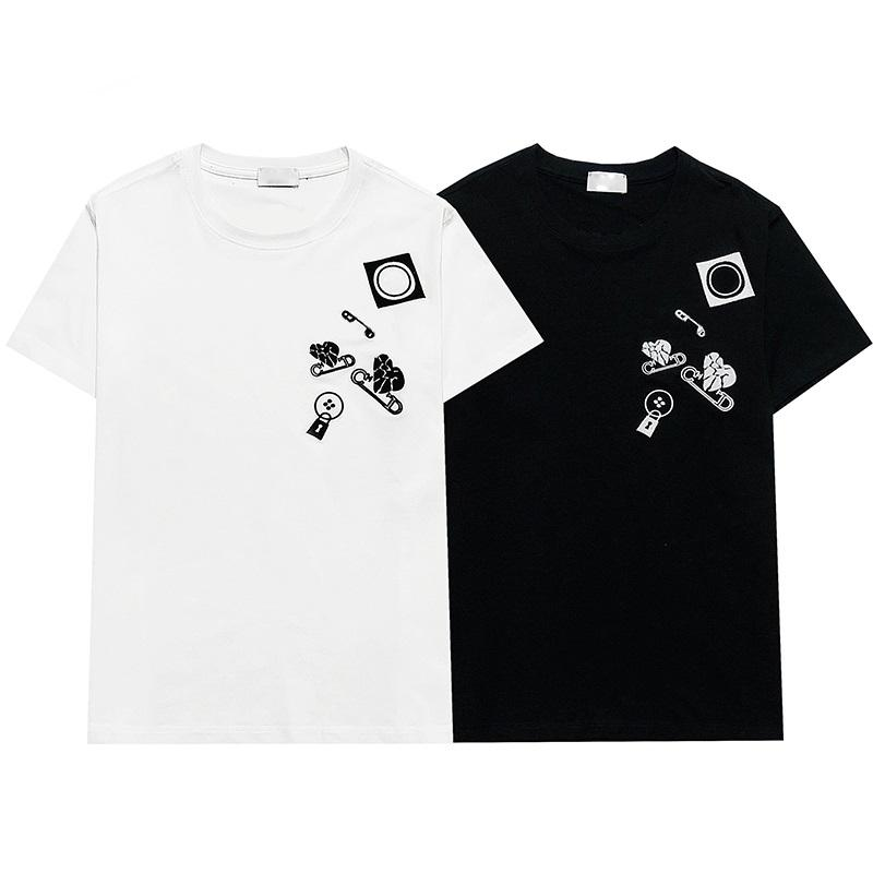 21SSS Francia 3D Tee letra bordado camiseta hombres mujeres pareja verano alta calidad paris calle casual luxe manga corta