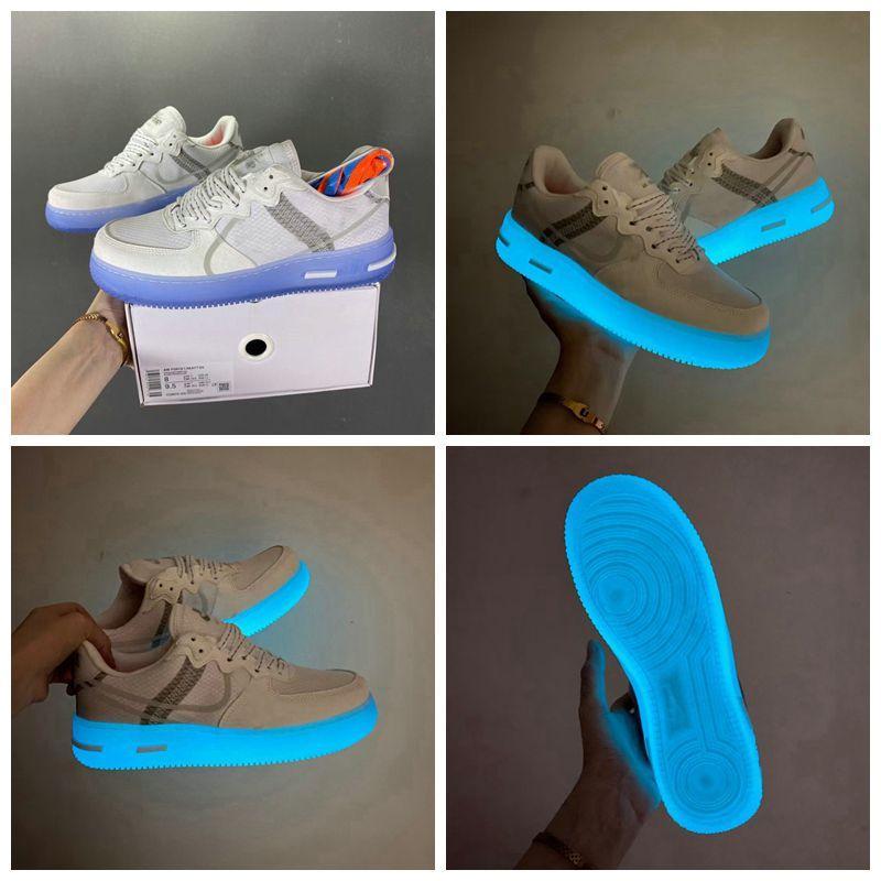 Kutu 2021 Yeni Airo Dunk 1 Casuals Ayakkabı 3 M Erkek Bayan Beyaz Kapalı MCA Hava Kuvvetleri Utility Volt Sadece MoMa Kuvvetleri Trainers Reakt QS Işık Kemik Sneakers Boyutu 36-45