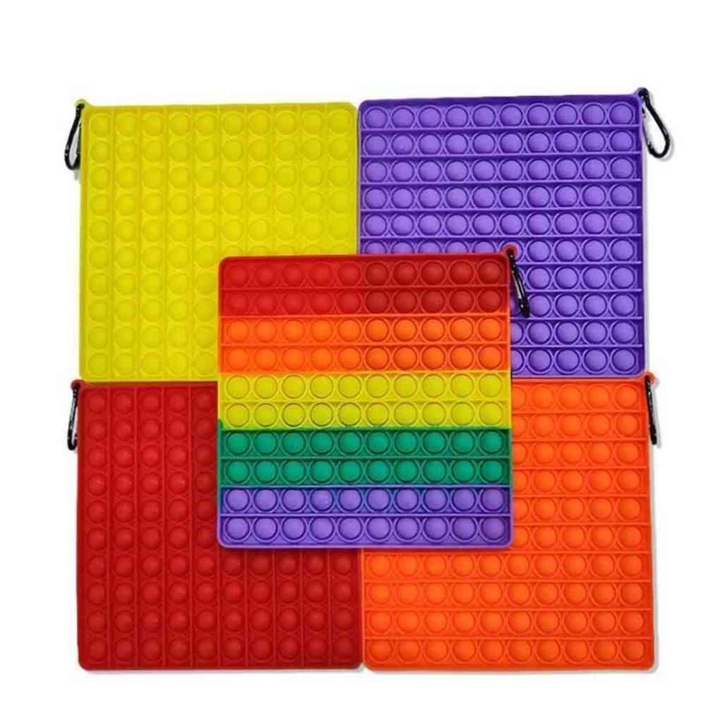 20 cm Mega Jumbo Resplandor en el Burbuja Oscura Popper Board Rainbow Push Pop Fidget Toys Sensory Fing Puzzle Poo su luz de noche Luminoso Tiktok Family Game G5711yn 1