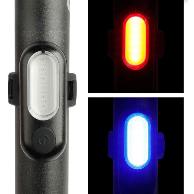 أضواء دراجة USB شحن ظهره مصباح دراجة الذيل البوليفيين تسليط الضوء على تحذير ليلة ركوب الدراجات اكسسوارات