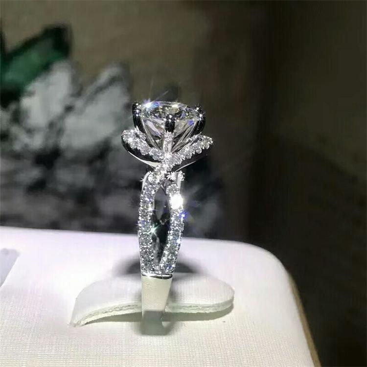 Rings Meibapj 1 Ct d Color Moissanite Diamond Fashion Simple Ring for Women 925 Sterling Silver Fine Wedding Jewelry