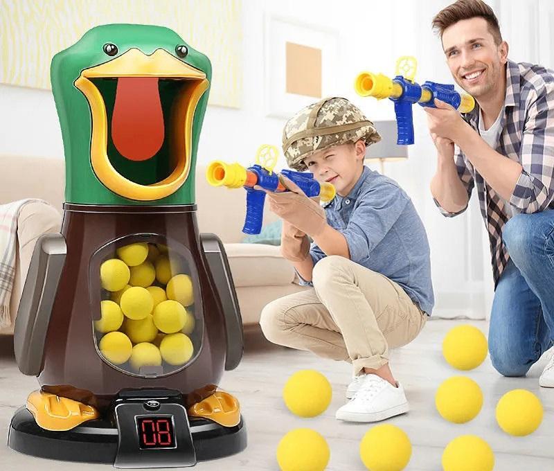 Ebeveyn-çocuk interaktif oyuncaklar, çekim savaşı, havale çalışan yumuşak kurşun silahı