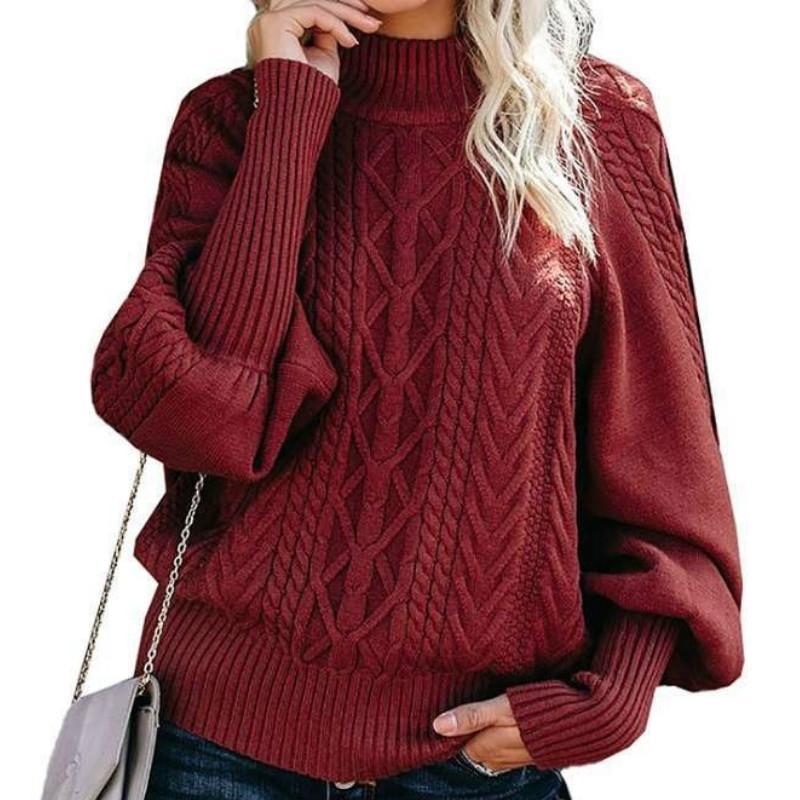Frauen Rollkragenpullover Hohe Qualität Herbst Winter Pull-Jumper Europäischen Casual Twist Warme Pullover Weibliche Übergroß 210603