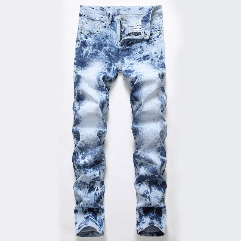 Jeans Light Street Motorcycle Pants Hole Jeans Tendencia Pantalones para hombre
