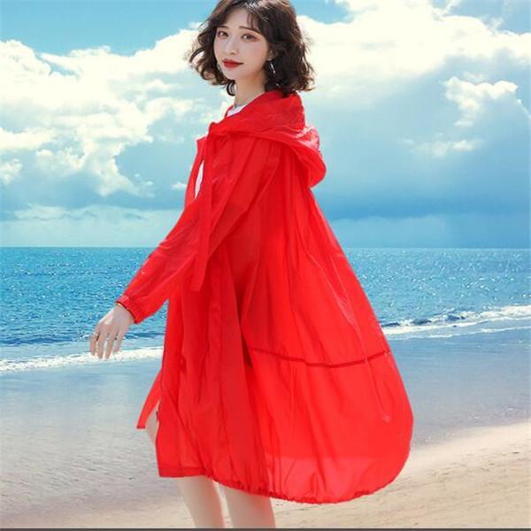 2021 Nuova Giacca da donna Estate Mid-Lunghezza Traspirante Stile occidentale Sunscreen Sunscreen Vento Cappotti Cappotti Cappotti Giacche