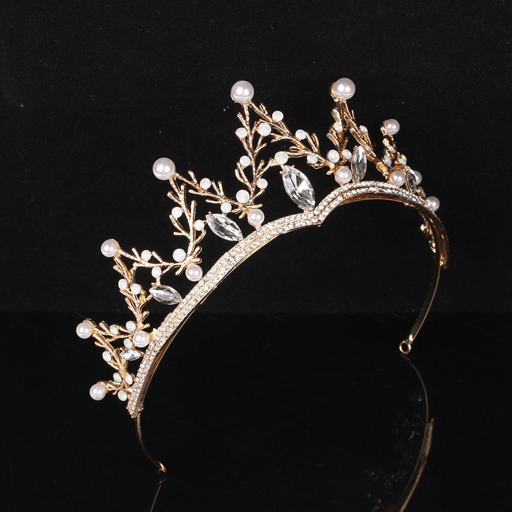 Barras de cristal de perlas de perlas de la perla y tairas de la boda para las mujeres accesorios para el cabello de la boda para las niñas de la boda para las niñas de la navegación