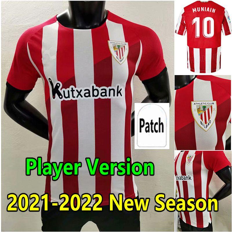 المشجعين لاعب النسخة 2021 Villalibre Bilbao Soccer Jersey 21 22 الرياضي Williams Muniain Aduriz كرة القدم قميص 2022 راؤول Garcia Camiseta دي فوبرول الرجال الاطفال
