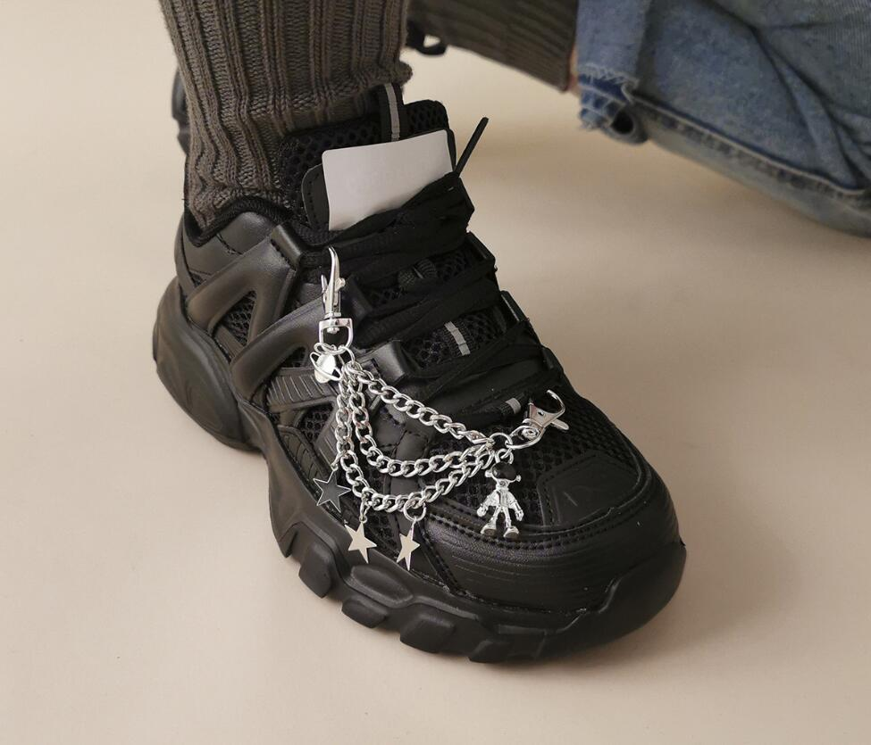 Robot Pentagram Anklet Cross Shoe Cadena Invierno Creativo Deportes Superior Decoración