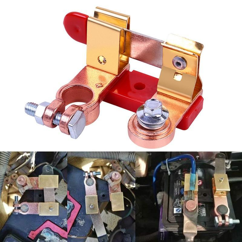 12V/24V Red Brass Car Battery Knife Switch Isolator ON/OFF Disconnect Relays For RV Boat Marine Yach ATV Parts