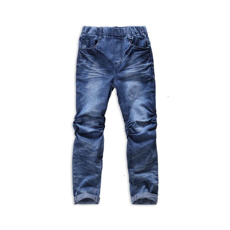 Mami Maka Frühling gewaschene kleine Beinhose Girls 'Middle School Kinder Baumwolle Stretch Jeans