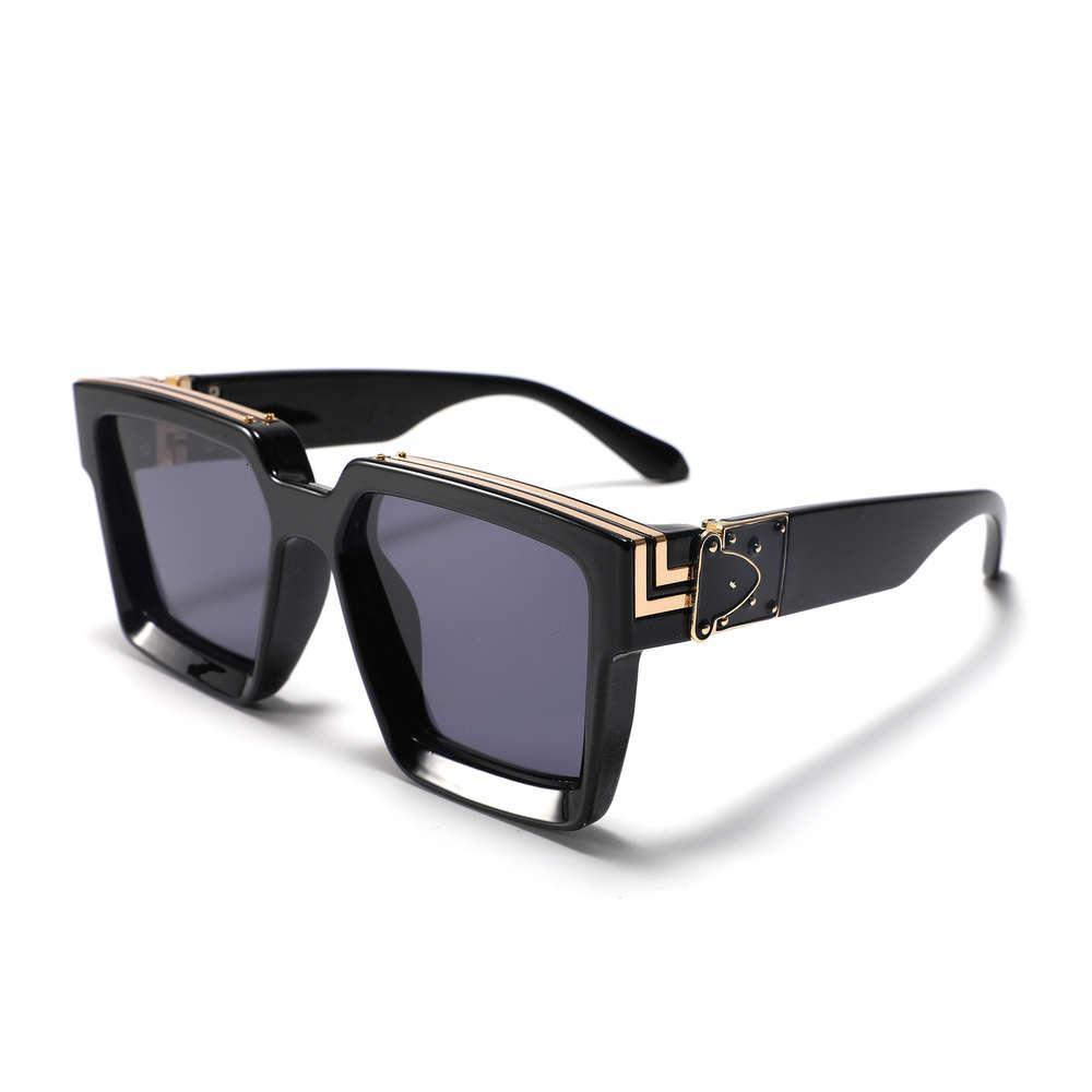Mulheres luxuosas homens óculos de sol de vidro de sol personalizado quadro quadrado sunglass