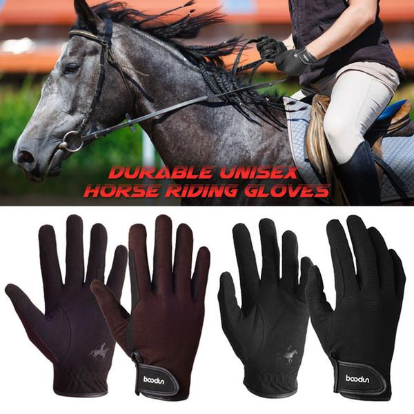 Ride Horse Finger Brand Guantes Gimnasio Bicicleta Bicicleta Jogging Sports Glove para Hombres Mujeres Halloween Party