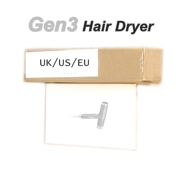 GEN3 3a Generazione Nessuna ventola Asciugacapelli Asciugacapelli Utensili da salone professionale Asciugacapelli Calore Velocità veloce Velocità US / UK / Spina UE