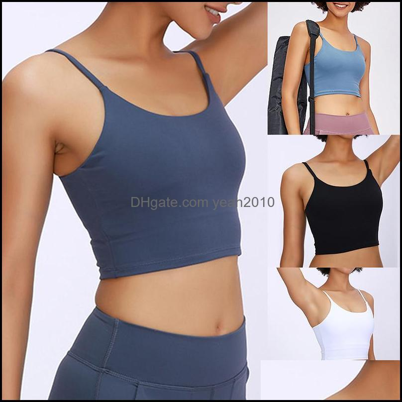 Yoga Exercise Wear Athletic Outdoor Apparel & Outdoorsyoga Outfits Women Padded Sports Bra Fitness Workout Running Shirts Stretch Gym Tank T