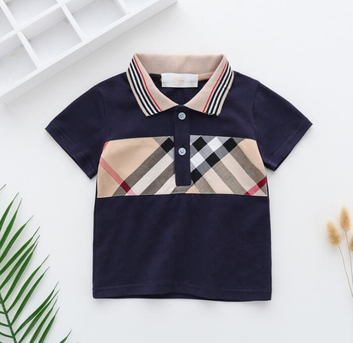 Girls' short sleeve T-shirt children's Polo half middle and small cotton boys 2-7 years old