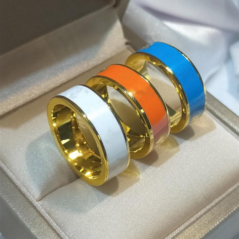 Bague de mode classique de luxe de luxe bijoux amants bracelet haute qualité titane en acier doré plaqué or ne disparaissant jamais accessoires de cadeau en 3 couleurs