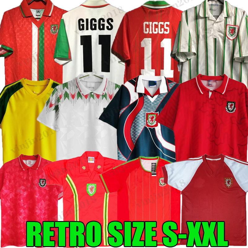 Wales Retro Soccer Jersey 1974 90 92 93 94 95 96 97 97 99 Giggs Hughes Saunders Rush Boden Speed خمر Classic Football Shirt 2015 1990 1992 1992 1994 1995 1996 1982 1982 83 1982