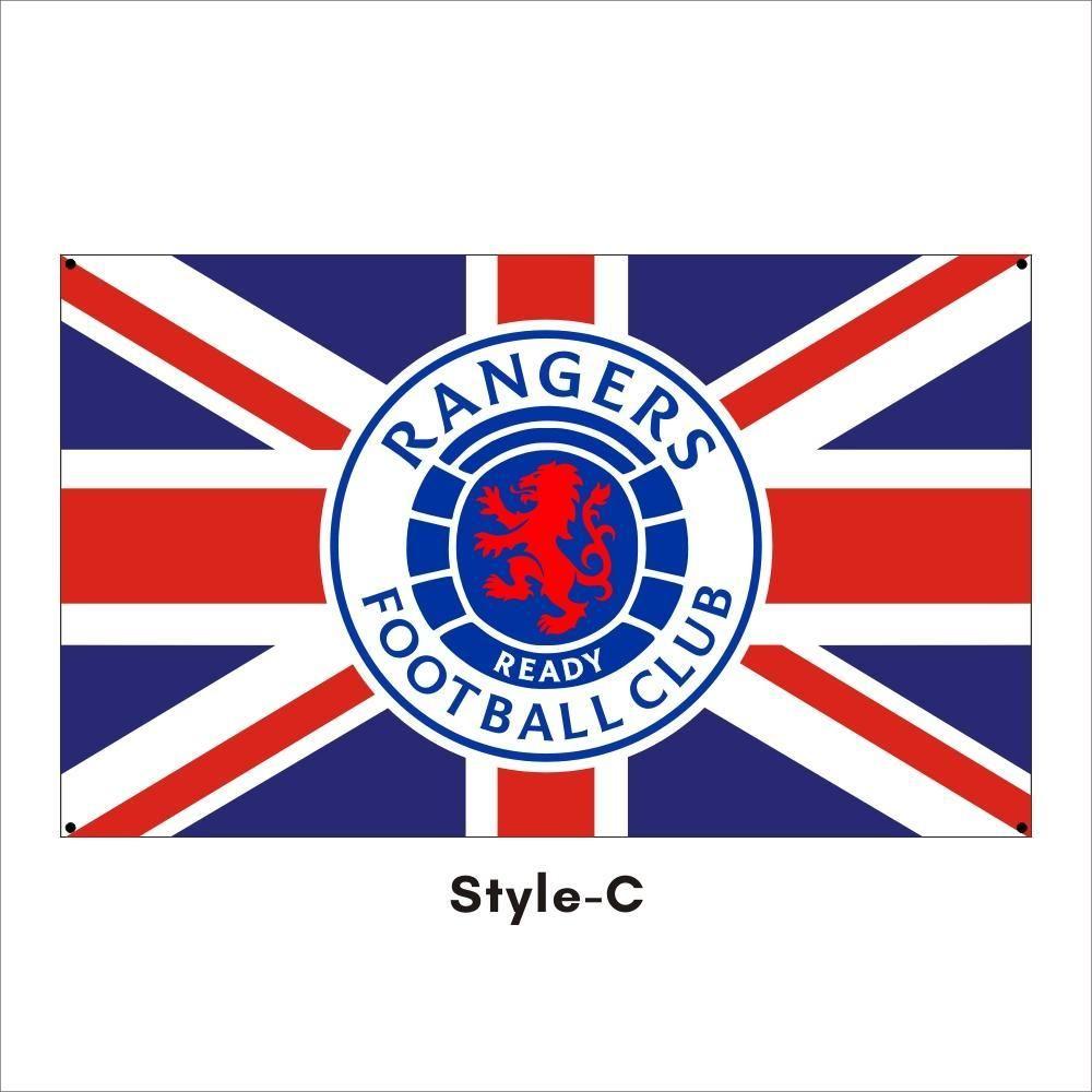 Kostenloser DHL-Versand Kundenspezifische Flagge 3X5FT / 90x150cm Rangers Football Club FC Loyal Champions 55 Flaggen Banner für Outdoor Sport OOD5394
