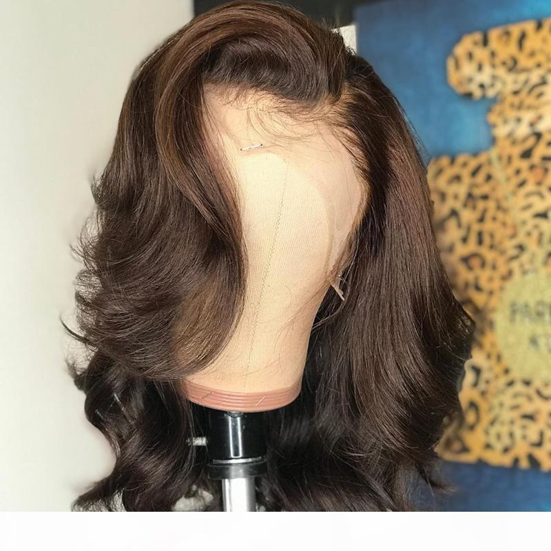 Pelucas marrones de Ombre Pelucas de encaje de encaje de encaje completo Pelucas de cabello humano con pelucas para bebés Remy pelucas de encaje brasileño