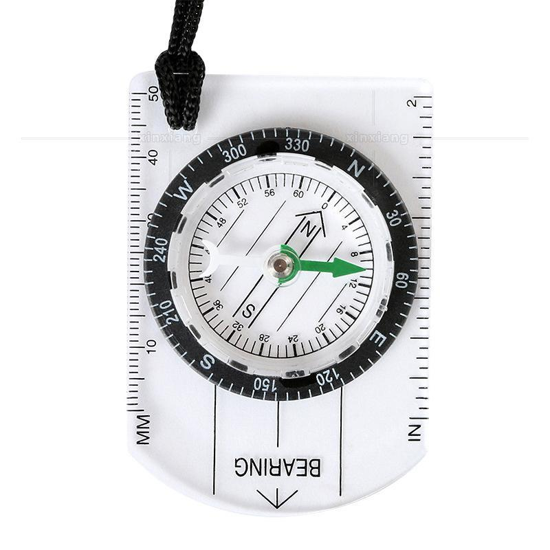 Compas multifonctionnel Échelle de la carte Mesure Portable Cross-Country Travel Camping Camping Outil de survie Accessoires de plein air Gadgets