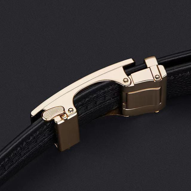 Célèbre Brand Ceinture homme de luxe marque mode véritable cuir de godet automatique de la bande PEplum PL20695-96P