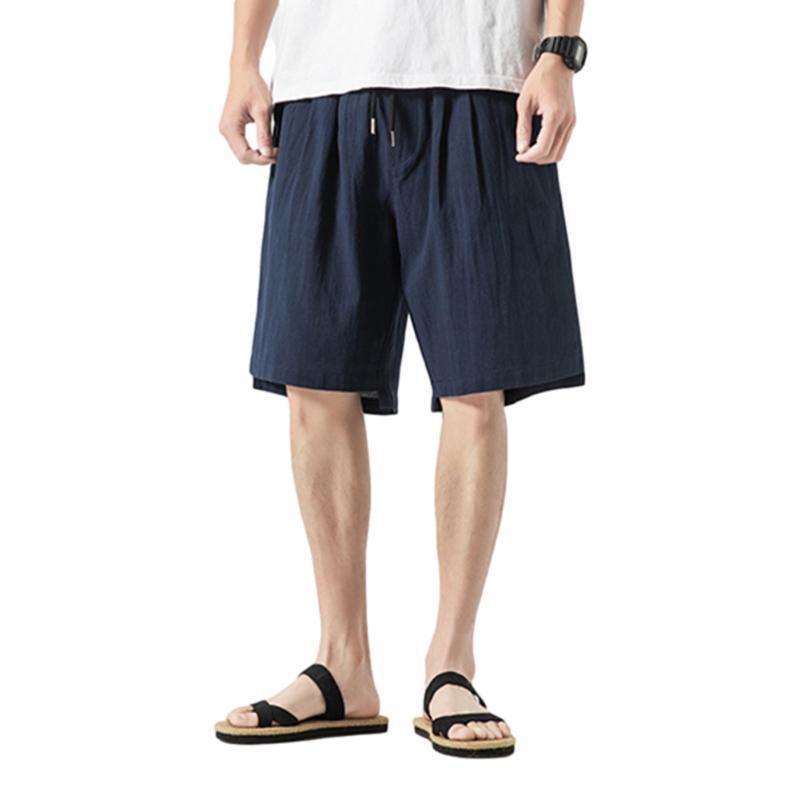 Shorts masculinos 2021 verão casual bermuda streetwear homem cor sólida moda moda praia trecho macio