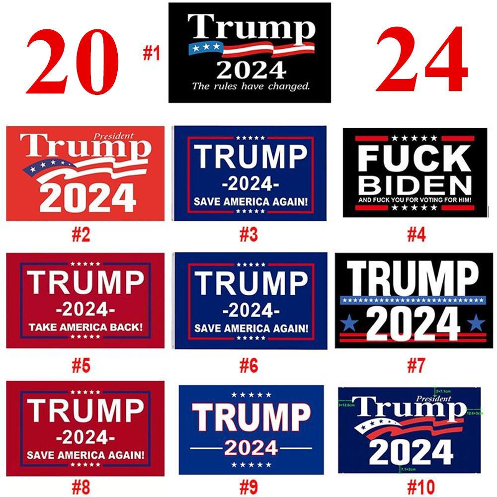 Spedizione veloce Donald Trump Flags 3x5 ft 2024 Re-eletto Prendere Bandiera Indietro America con Brass Gommommets Patriotic Outdoor Decoration Decoration Banner all'ingrosso