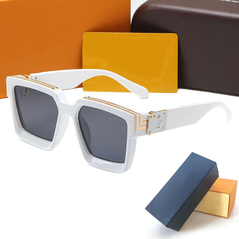 good quality 96006 Womans Sunglasses Luxury Fashion Mens Sun glasses UV Protection men Designer eyeglass Gradient Metal hinge eye women spectacles with cases boxs