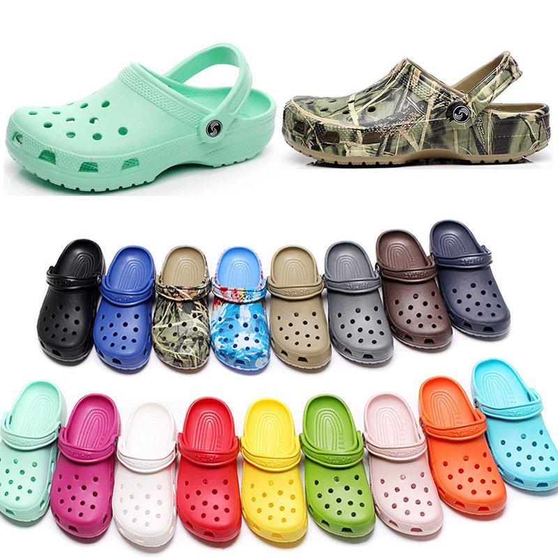캐주얼 해변에서 여자 패션 슬립 방수 신발 남성 클래식 개 간호 Clog 병원 여성 슬리퍼 작업 의료 샌들 30